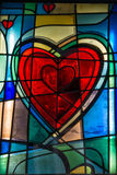 Heart shape glass window Royalty Free Stock Photography