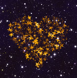 Heart shape from glowing stars. Love symbol Stock Image