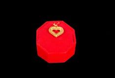 Heart shape golden lockeะ Stock Image