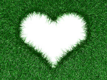 Heart shape in the grass Royalty Free Stock Photo