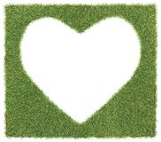 Heart shape on grass Stock Images