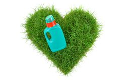 Heart Shape Grass with Fertilizer royalty free stock photos