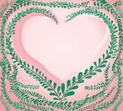 Heart shape in green pastel leafs Coat buttons , Mexican daisy background vector Stock Photography