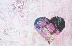 Heart shape on grunge background  Royalty Free Stock Image