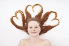 Heart shape hair Stock Image
