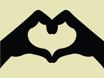 Heart Shape Hand Gesture. Illustration of a heart shape hand gesture Stock Photo