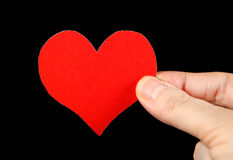 Heart Shape in the Hand Stock Photo
