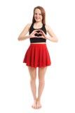 Heart shape hand sign Stock Photo