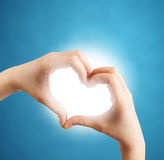 Heart shape with hands. Background Royalty Free Stock Photos