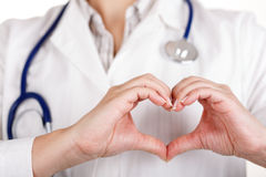 Heart shape hands Royalty Free Stock Image