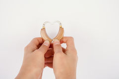 Heart shape from hearing aids Stock Photo