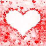 Heart shape from hearts Stock Photo
