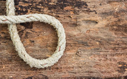 Heart shape Hemp rope Royalty Free Stock Photos