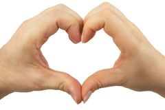 Heart shape her and him Stock Images