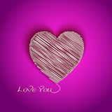 Heart shape with I Love You message Stock Photos