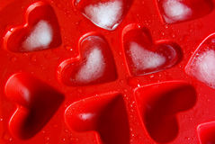Heart shape ice Stock Photos
