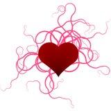 Heart shape illustration Royalty Free Stock Images
