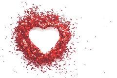Heart shape inside art nail sticker on white background Royalty Free Stock Image