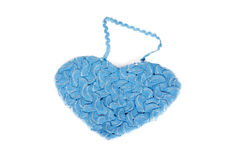 Heart shape of interwoven blue braid Royalty Free Stock Photo