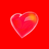 Heart Shape isolated on red background. Royalty Free Stock Images
