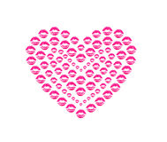 Heart shape kissing lips Royalty Free Stock Images