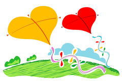 Heart shape  kites Royalty Free Stock Image