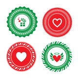 Heart shape label design Royalty Free Stock Photo