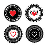 Heart shape label design Royalty Free Stock Photography