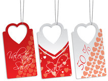 Heart shape label set Royalty Free Stock Photos