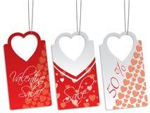 Heart shape label set Royalty Free Stock Photos