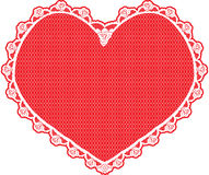 Heart shape lace doily, white Royalty Free Stock Images