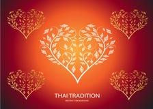 Heart shape leaf of thai tradition stock illustration