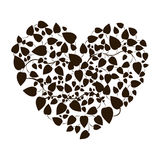Heart shape leaves with creepers Royalty Free Stock Photo
