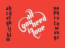 Heart shape lettering Stock Image