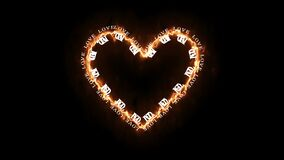 Heart shape of letters. Valentine`s Day.