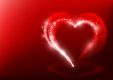 Heart Shape from Light Beams Royalty Free Stock Image