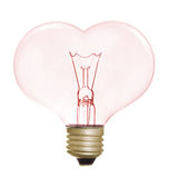Heart shape light bulb Royalty Free Stock Photos