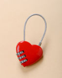 Heart shape lock Stock Photo