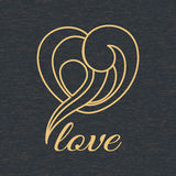Heart shape logo Stock Images
