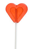 Heart shape lollipop on a stick Stock Photo