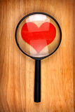 Heart Shape in the Loupe Stock Photo