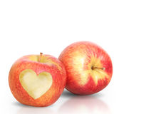 Heart Shape love Apple Royalty Free Stock Images