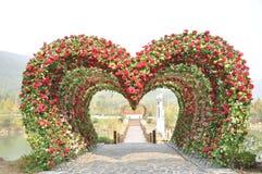 Heart shape love door Royalty Free Stock Photo