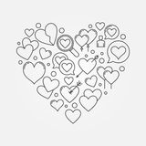 Heart shape or love sign Royalty Free Stock Photography