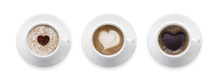 Free Heart Shape, Love Symbol On Black Hot Coffee Cup, Lover Sign On Royalty Free Stock Image - 97877536