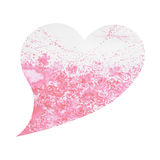 Heart shape love tree for wedding, valentines day, watercolor painting Royalty Free Stock Photo