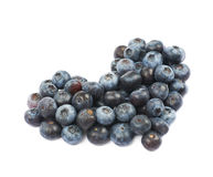 Heart shape made of bilberries isolated Royalty Free Stock Photo