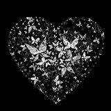 Heart shape made from butterflies Stock Photo