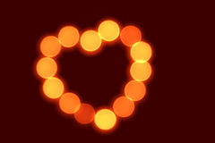 Heart shape made from candles Royalty Free Stock Photo