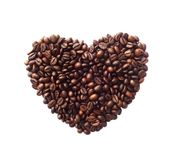 Heart shape made from coffee beans Stock Image